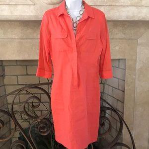 Orange Elie Tahari 3/4 Sleeve Dres